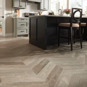 Glee chevron tile flooring | Brooks Flooring Services Inc