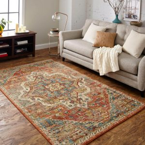 Area Rug in living room | Brooks Flooring Services Inc