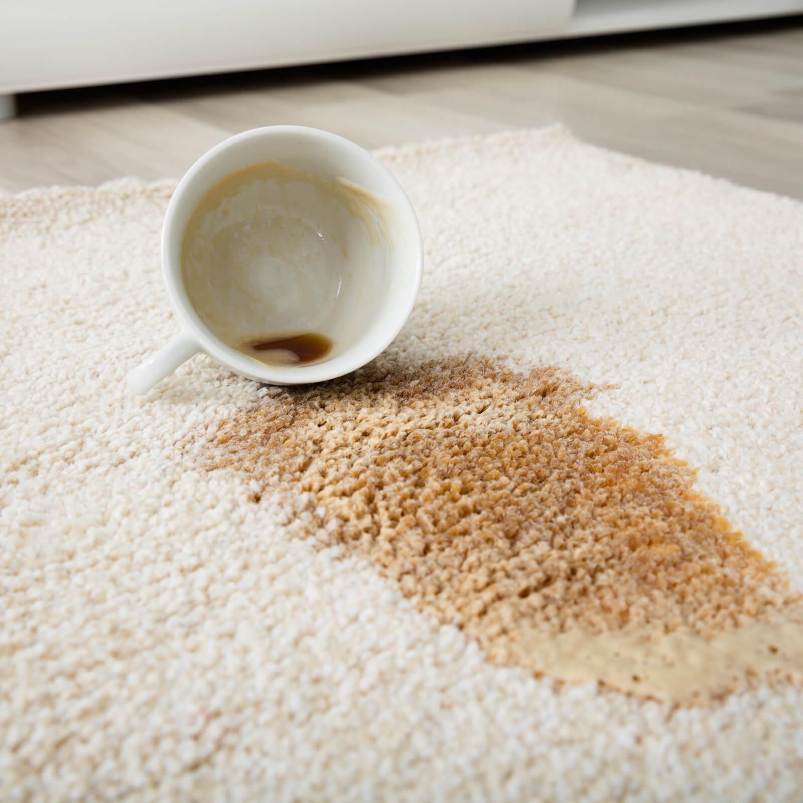 Coffee spill on area rug | Brooks Flooring Services Inc