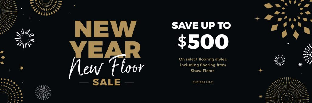 New Year New Floors Sale | Brooks Flooring Services Inc